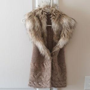 LOFT fluffy vest